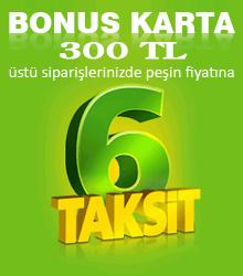 Bonus Karta Peşin Fiyatına 6 Taksit